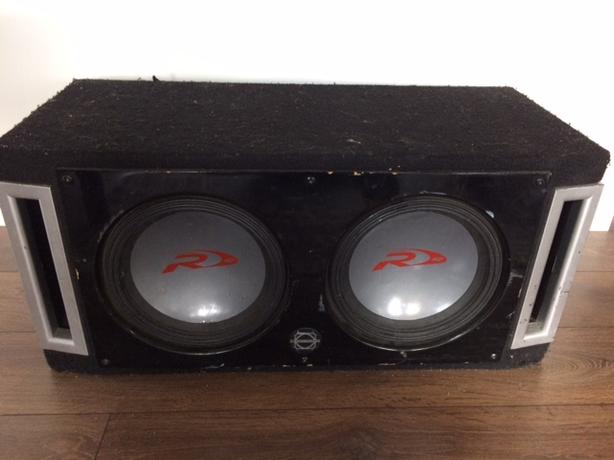 Alpine Boombox Speakers and amplifier