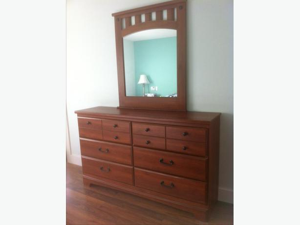 Dresser with Mirror and 2 night stands