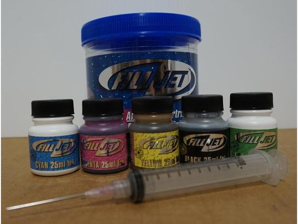 """Fill Jet"" Refill Kit For All Inkjet Cartridges, Any Brand – Sealed"