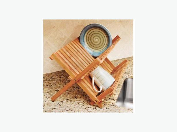 BAMBOO FOLDING DISH RACK - LIKE NEW