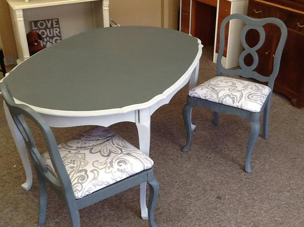 pair of dining room chairs new paint amp fabric central