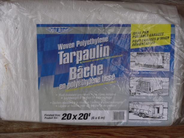 Tarpaulin 20 x 20 White