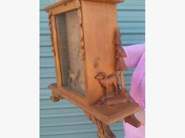 REDUCED!!! HAND CARVED CLOCK