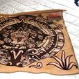 REDUCED!! Unique Mayan Calendar Wall Hanging