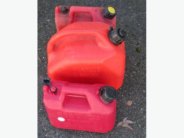 REDUCED!! ASSORTED GAS JUGS