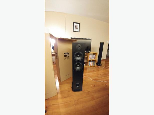 Brand new polk r50 tower speakers