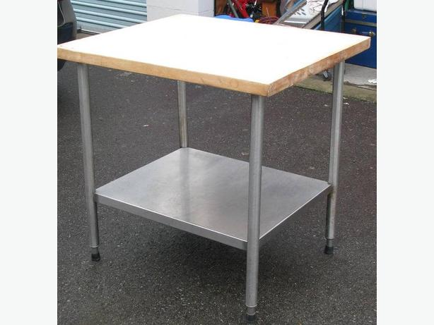 COMMERCIAL GRADE BUTCHER TABLE