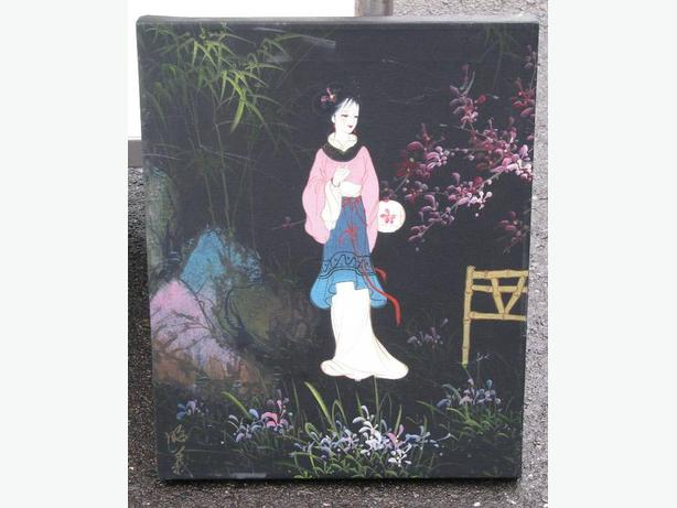 JAPANESE STYLE ART ON FABRIC
