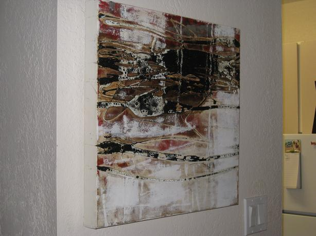 Abstract oil painting, like new.