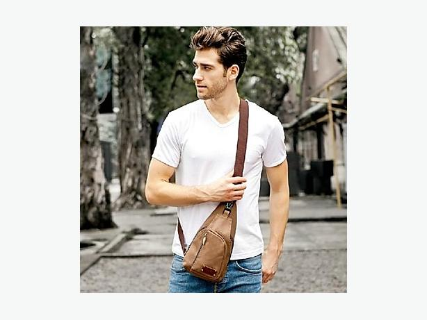 Crossbody Sling Bag - Brown