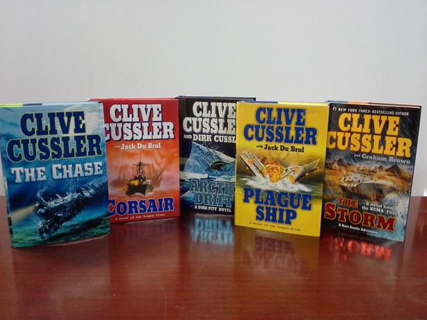 Clive Cussler 5 Hard Cover Books