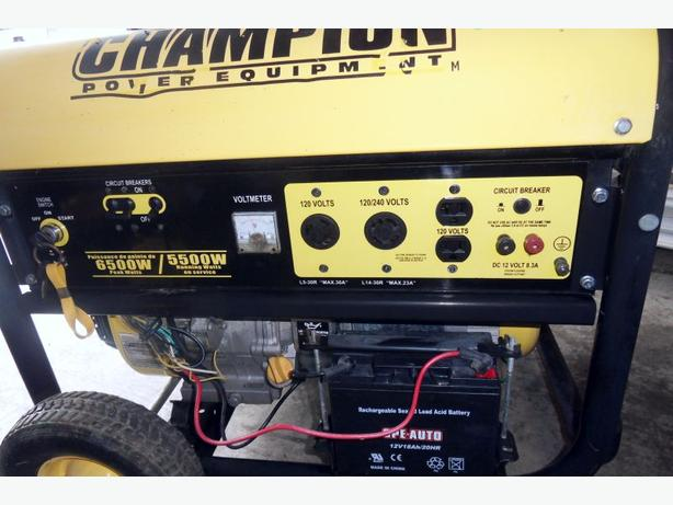 Champion Electric Start 5500 Watt Gas Generator