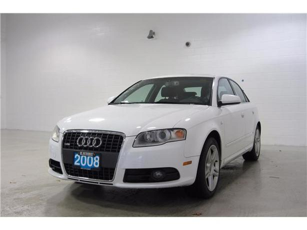 2008 WHITE AUDI A4 2.0T QURATTRO AWD SEDAN SUNROOF/LEATHER >Certified Pre-Owned