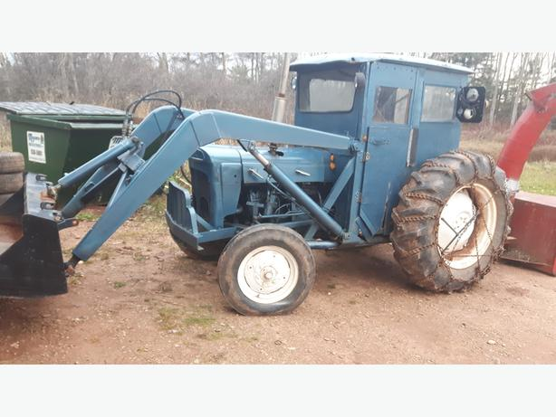 tractor and blower