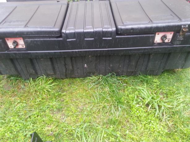 Black pickup tool box