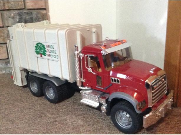 Bruder Mack garbage truck toy