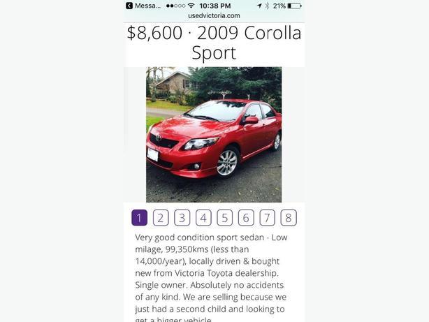 2009 corolla sport