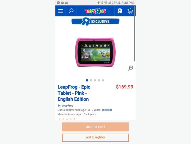 new in box pink leapfrog EPIC retail  $169