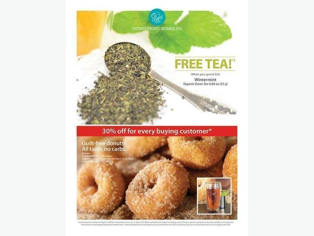 FREE TEA and 30% OFF Ends December 31