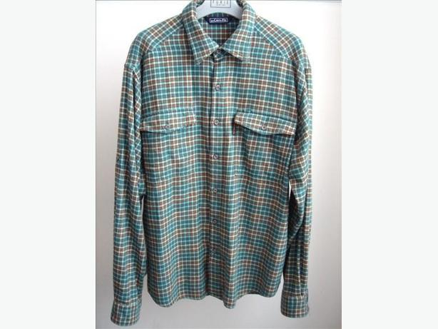 Green/Rust Plaid Flannel Shirt by Pro Cam-Fis - Size XL