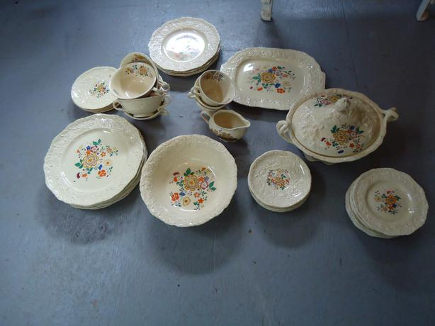 52 Piece Set of Mason's Oak Ironstone China Riseley England