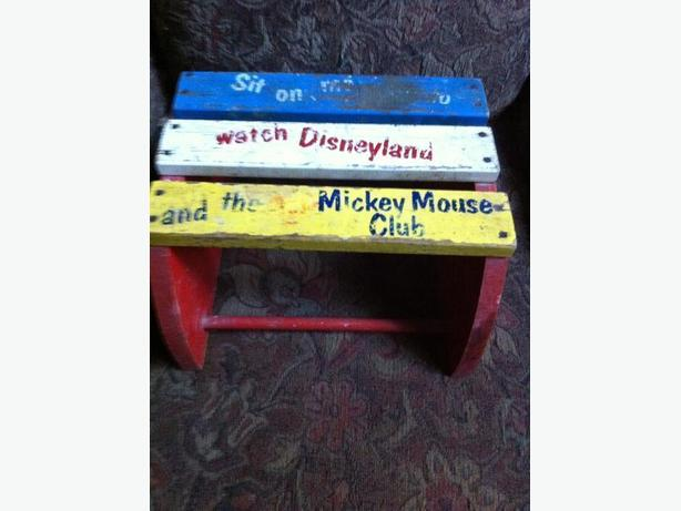 Vintage mickey mouse club child 39 s stool central saanich victoria - Mickey mouse stool ...