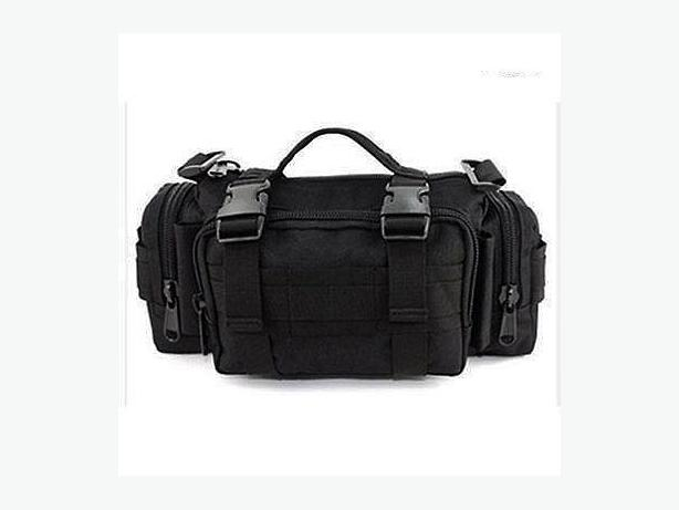 Tactical Molle Utility Shoulder Waist Pack Messenger Bag - Black