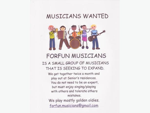 ForFun Musicians Wanted