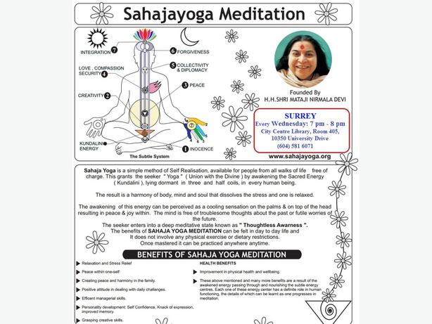 Free Meditation Classes in Surrey B.C.