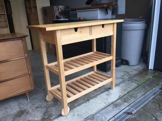 solid wood kitchen island cart west shore langford