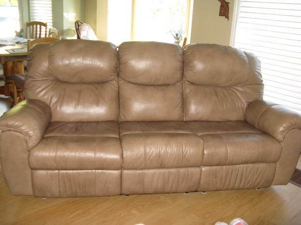 Leather Sofa And Chair Central Saanich Victoria
