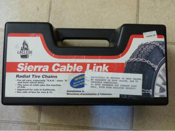Sierra Cable Link Radial Tire Chains Victoria City Victoria