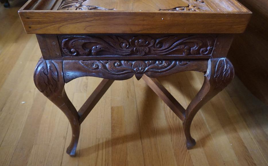 4u2c Ornate Carved Wood Coffee Table Gloucester Ottawa
