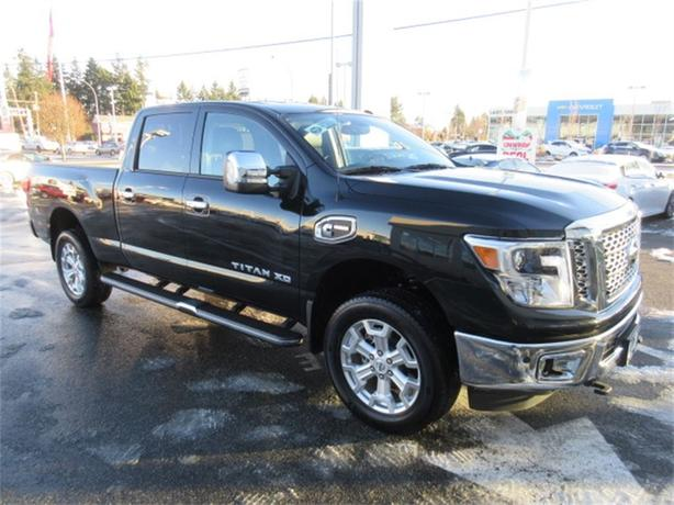 2016 nissan titan xd sl diesel cummins turbo 4x4 central nanaimo nanaimo. Black Bedroom Furniture Sets. Home Design Ideas