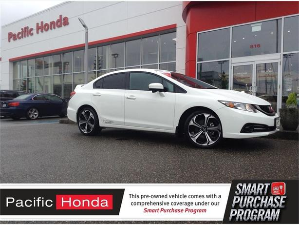 2015 Honda Civic Sedan SI - Like new! Zero (0) icbc claims, 1 owner trade