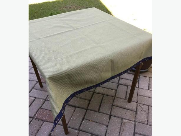 Three Bridge/Card Table Cover  made of  Corduroy