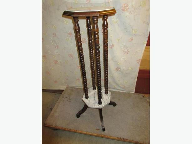 MARBLE TOP FIRN STAND FROM ESTATE