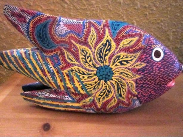 Artist Pepe Santiago Large Carved Fishy