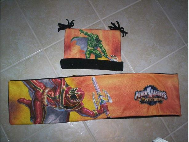 Power Rangers Hat and Scarf