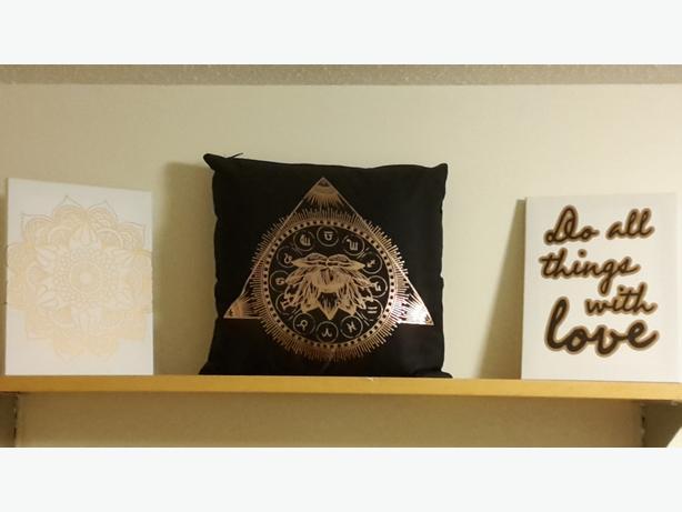 Decorative Pillows Victoria Bc : Decorative Pillow and 2 Pictures Victoria City, Victoria - MOBILE