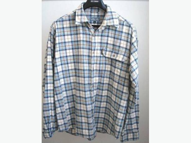 Pro Cam-Fis Pale Blue/White Plaid Flannel Shirt