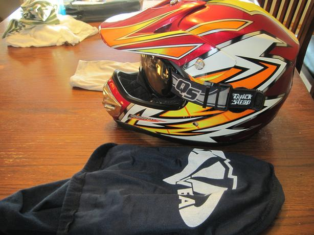 Mens Large Open Faced Helmet