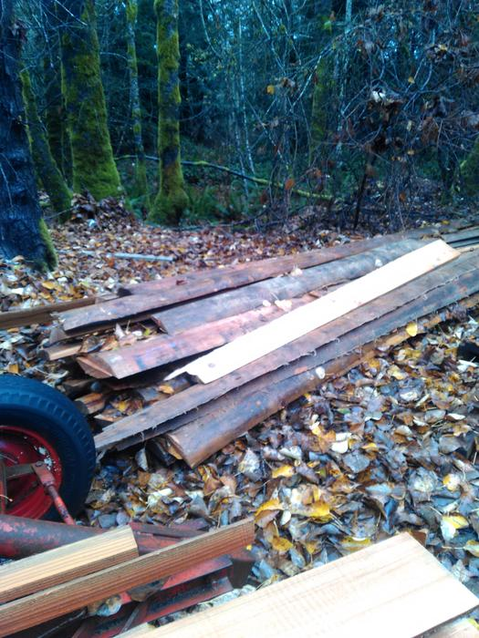 Cedar Live Edge Slabs For Fencing Or Siding Outside