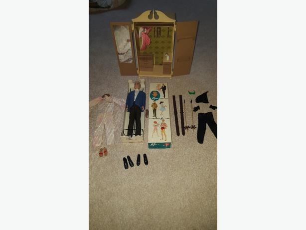 1961 Vintage Ken doll with box and wardrobe
