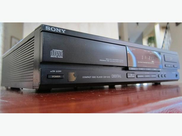 RARE MINI SONY CDP-M35 CD PLAYER SINGLE DISC *MADE IN JAPAN*