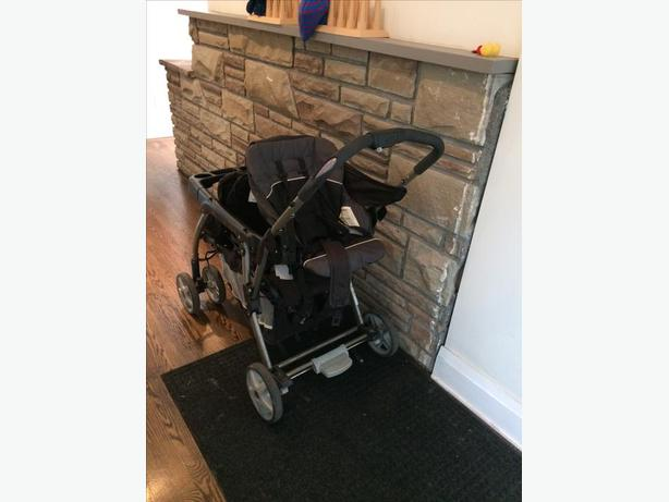 Double Stroller - Graco DuoGlider Dragonfly Stroller - 4 year's old.