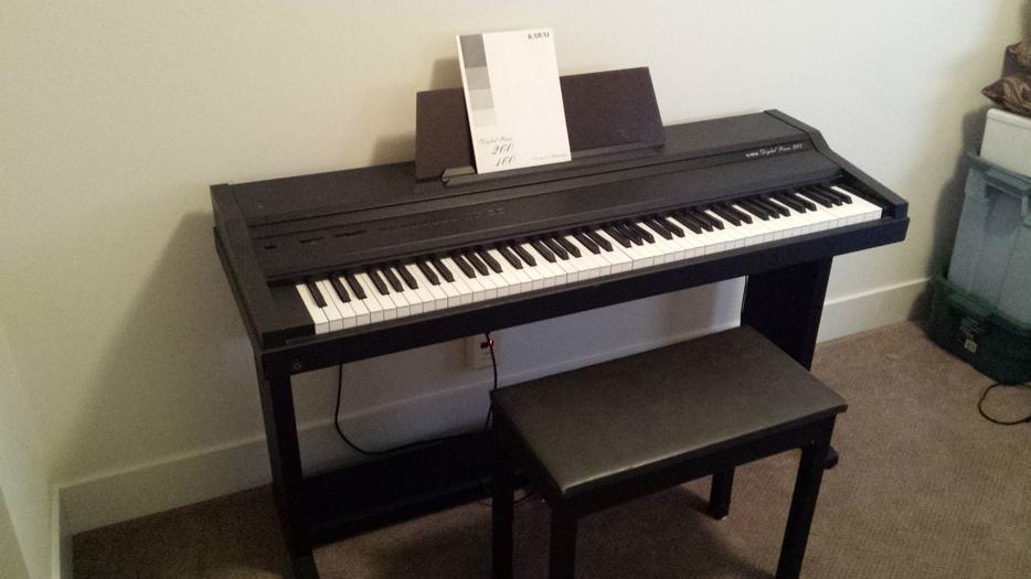 kawai 260 digital piano with bench victoria city victoria. Black Bedroom Furniture Sets. Home Design Ideas