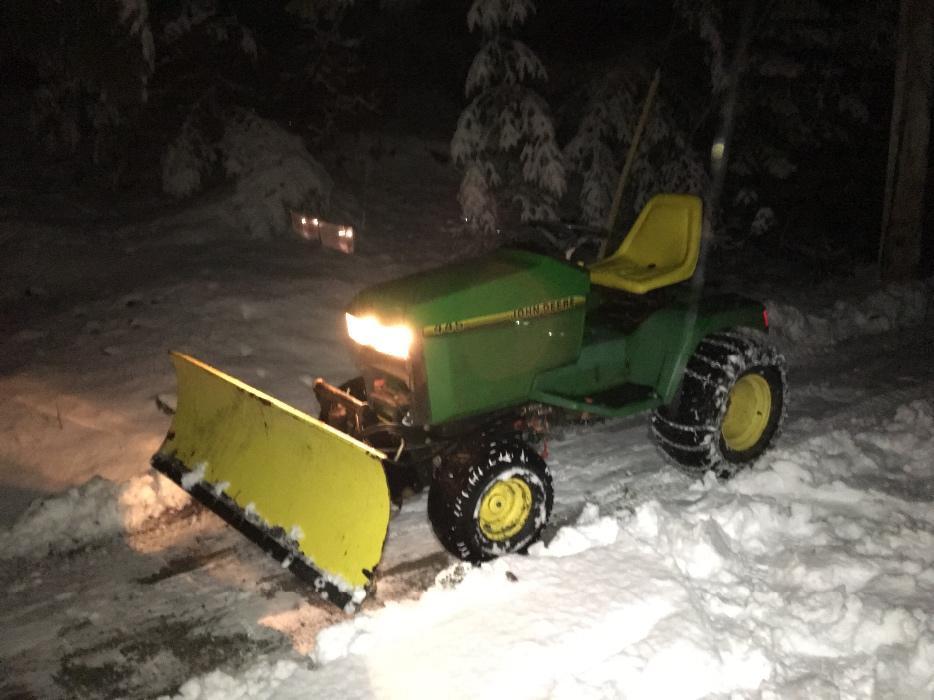 Lawn Tractor Snow Plow Blades : Quot john deere snow blade for lawn tractor malahat