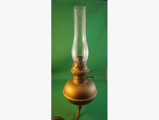 4U2C ANTIQUE BRASS ARM WALL SCONCE OIL LAMP Gloucester, Ottawa