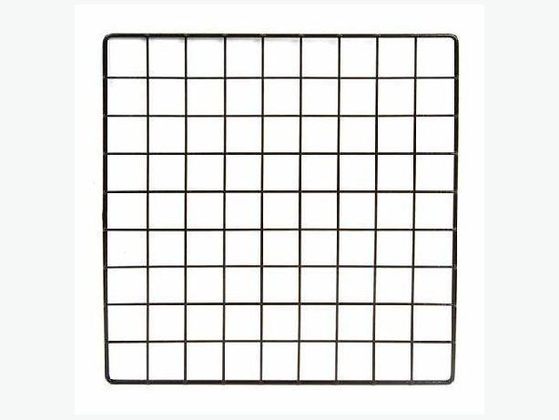 "14"" x 14"" Black square wall or bin wire grid racking, lot of 30"